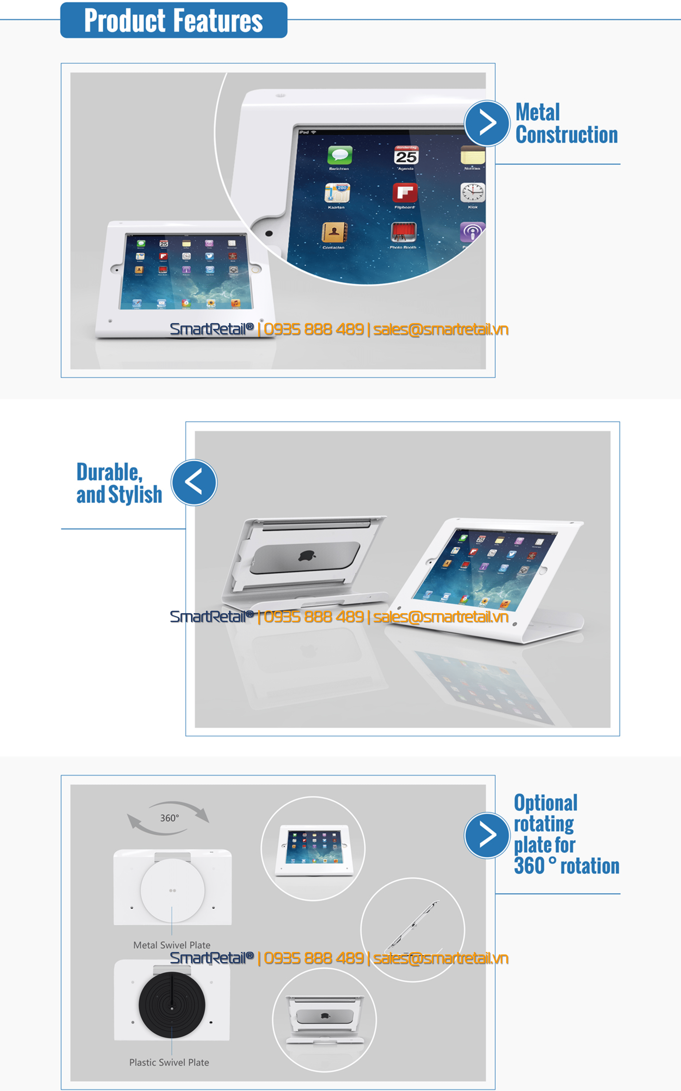 Giá đỡ máy tính bảng để bàn SC-102 - SmartRetail - 0935888489