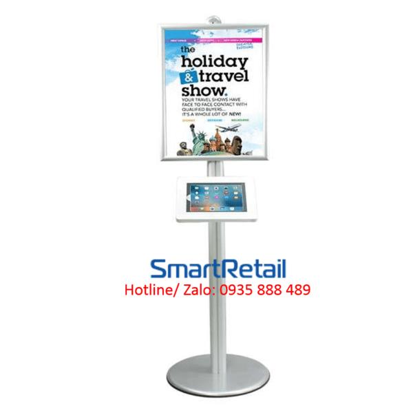 SmartRetail Giá đỡ máy tính bảng chân đứng LSF04 C 16