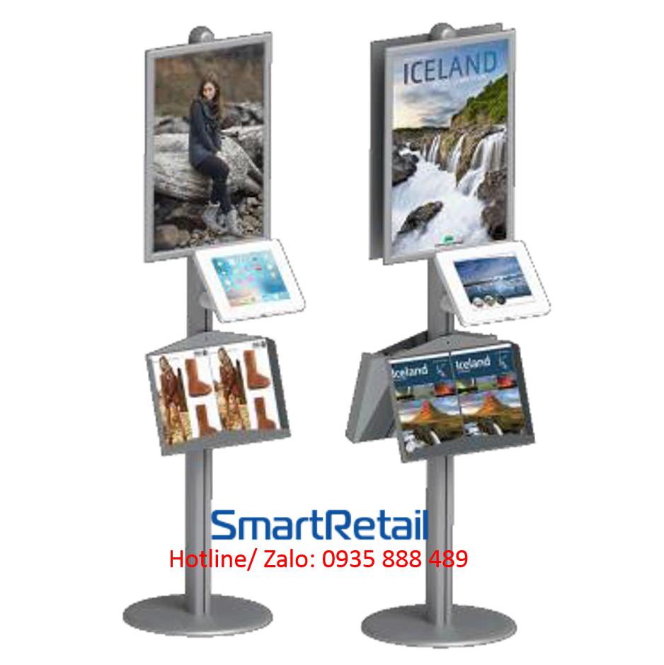Giá đỡ máy tính bảng chân đứng đa năng - SmartRetail - 0935888489