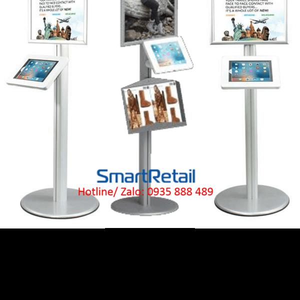 SmartRetail Giá đỡ máy tính bảng chân đứng LSF04 C 19