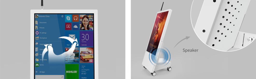 Màn hình quảng cáo di động 32 inch - Màn hình quảng cáo chuyên dụng