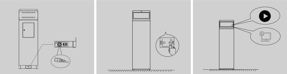 Màn hình quảng cáo chân đứng tích hợp digital signange