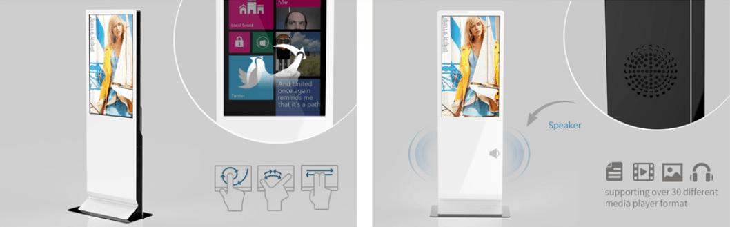 Màn hình quảng cáo chân đứng 55 inch - màn hình quảng cáo tích hợp digital signage