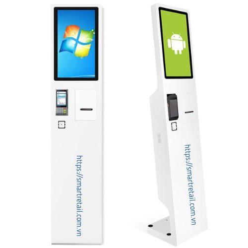 Kiosk bán hàng 22 Inch | Máy bán hàng không tiếp xúc | May bán hàng Self Ordering - SmartRetail