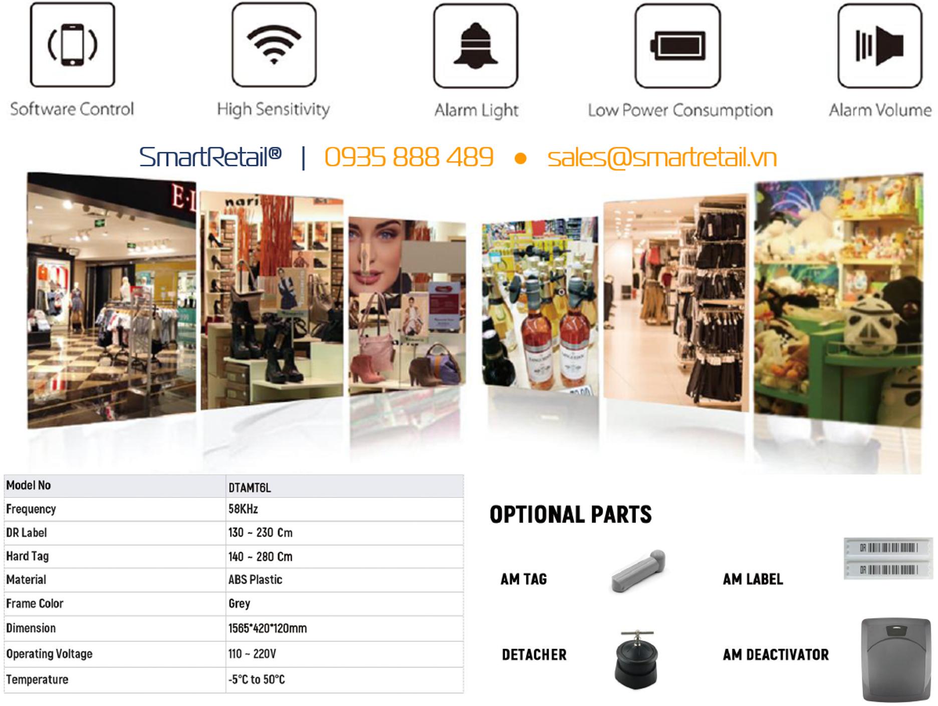 SmartRetail - Hệ thống cổng chống trộm hàng hóa - 0935888489