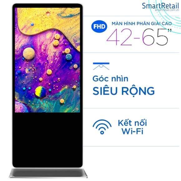 Màn hình quảng cáo chân đứng | Màn hình Standee điện tử | Màn hình LCD quảng cáo đứng - SmartRetail
