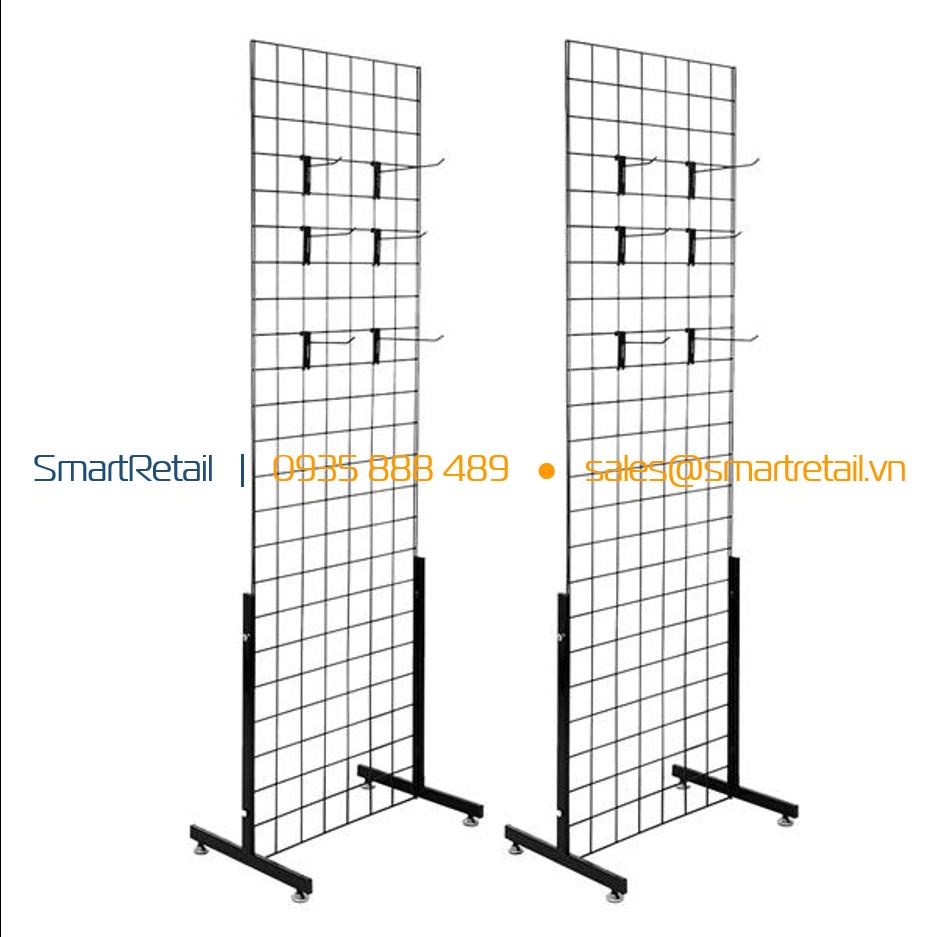 Tấm lưới sắt treo phụ kiện hàng hóa có chân - SmartRetail - 0935888489