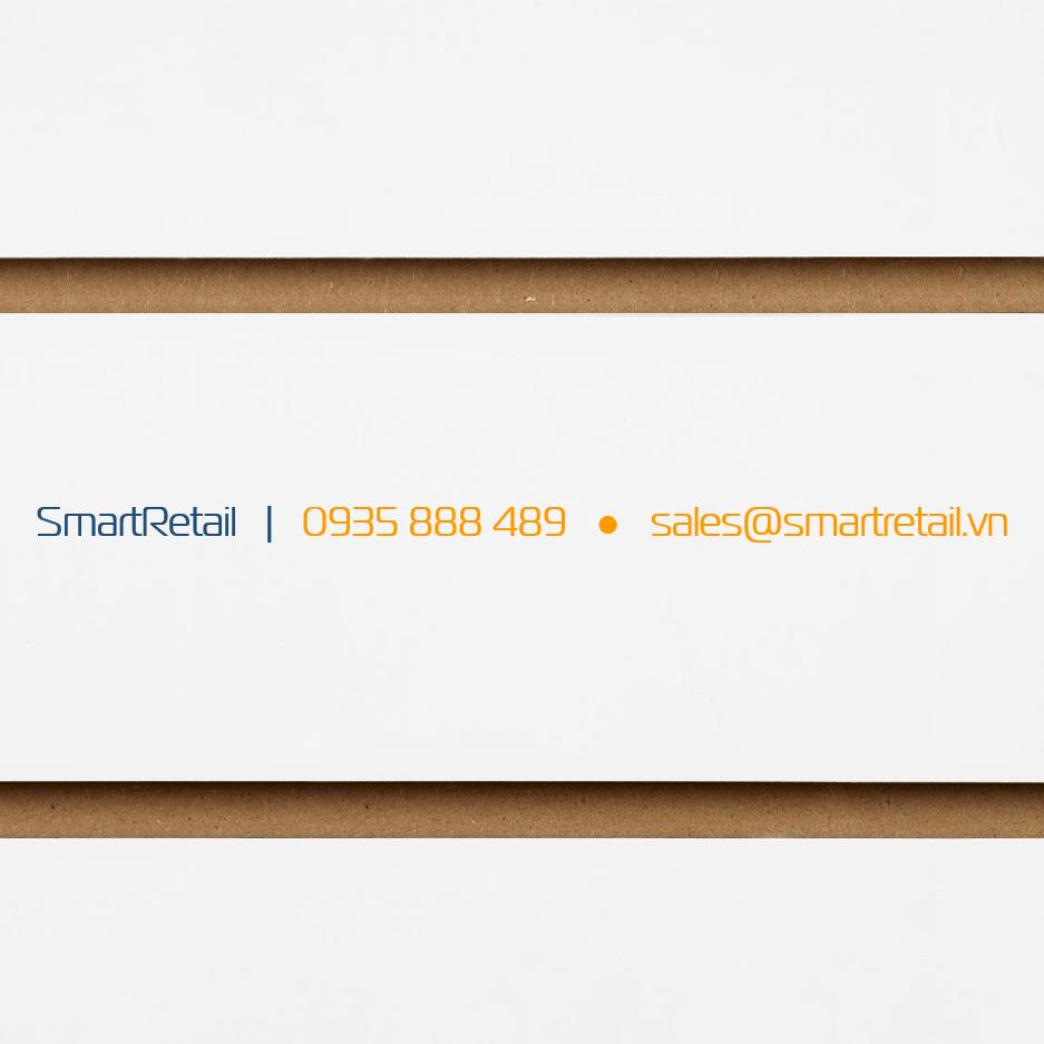Tấm gỗ Slatwall màu trắng - SmartRetrail - 0935888489