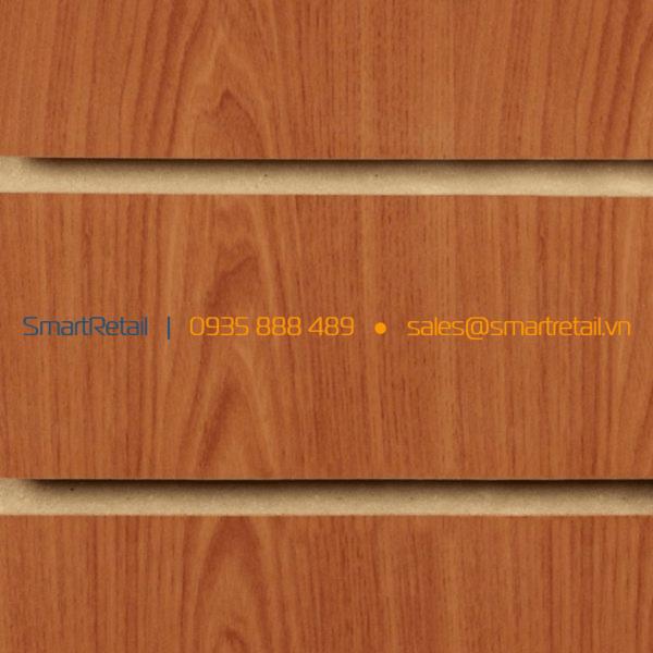 Vách gỗ Slatwall màu cherry - SmartRetail - 0935888489