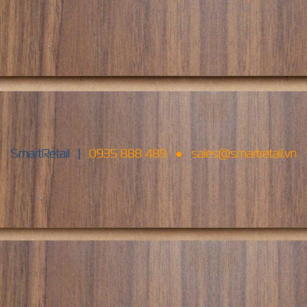 Tấm gỗ Slatwall màu Walnut - SmartRetail - 0935888489