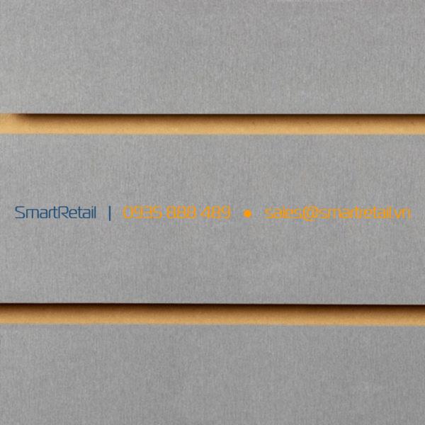 Tâm gỗ Slatwall màu xám - SmartRetail - 0935888489