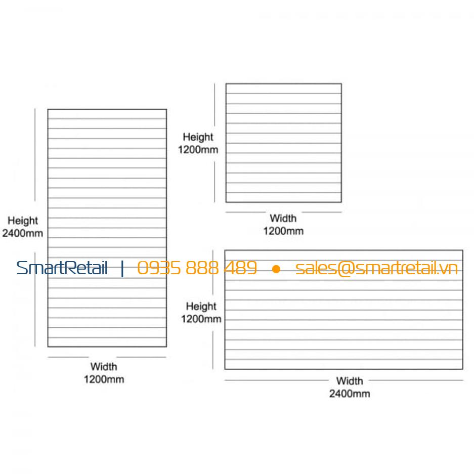 Kích thước Tấm gỗ Slatwall MDF - SmartRerail - 0935888489