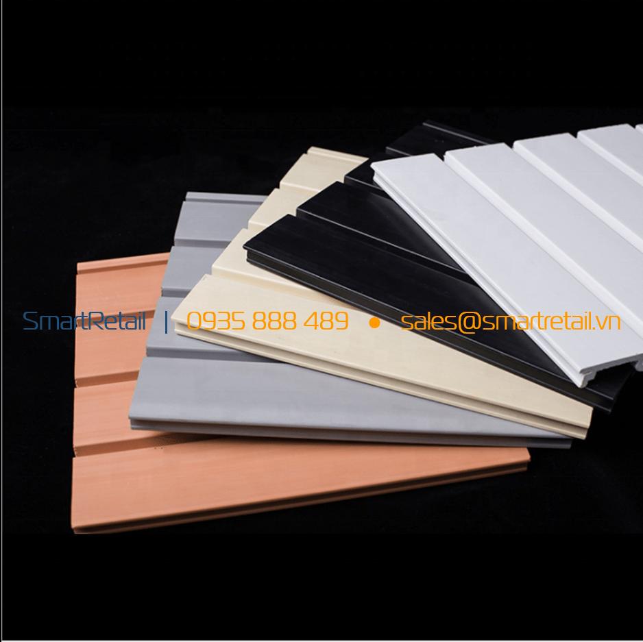 Slatwall nhựa PVC màu - SmartRetail - 0935888489