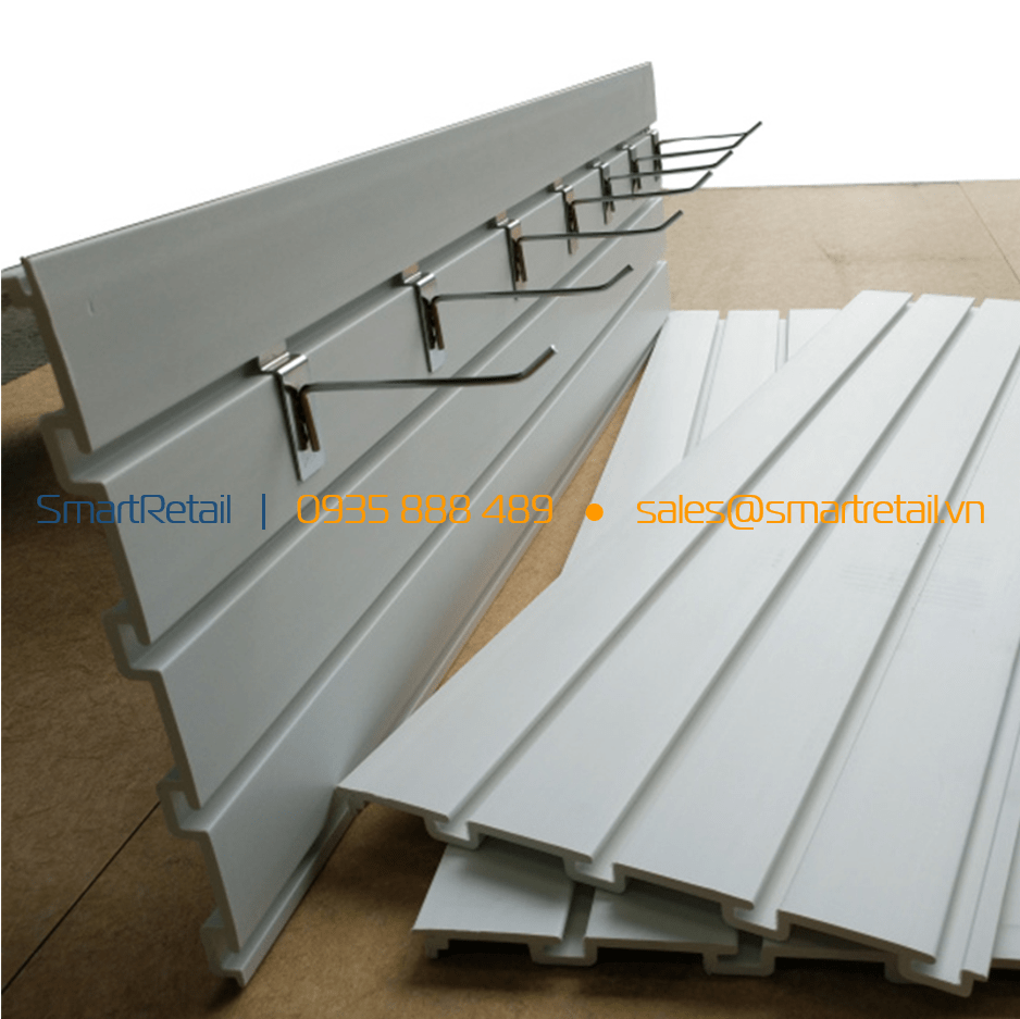 Móc treo tấm nhựa Slatwall PVC - SmartRetail - 0935888489