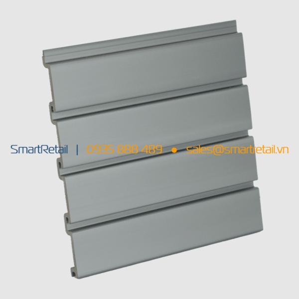 Tấm Slatwall PVC màu Bạc - SmartRetail - 0935888489