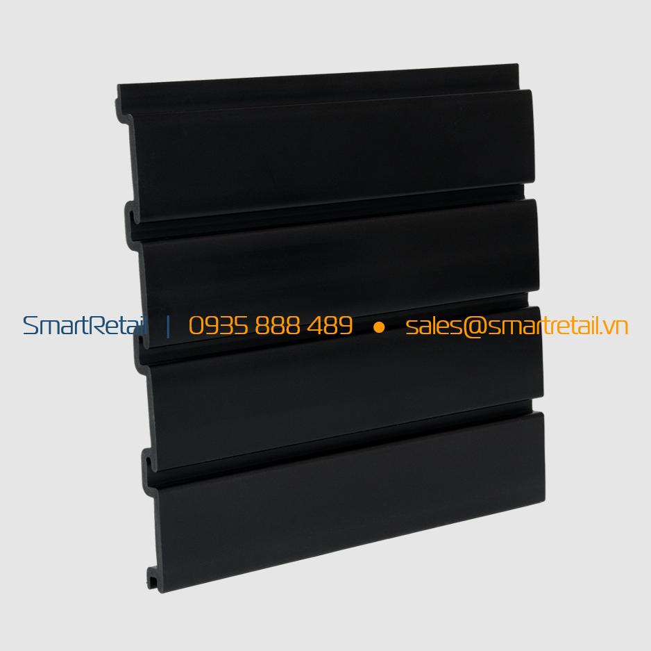 Tấm Slatwall PVC màu đen - SmartRetail - 0935888489