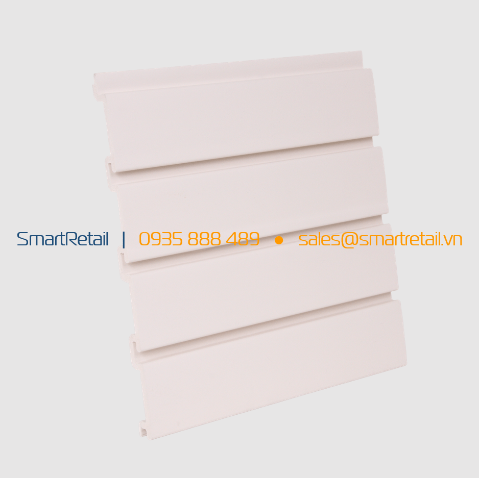 Tấm Slatwall PVC màu trắng kem - SmartRetail - 0935888489