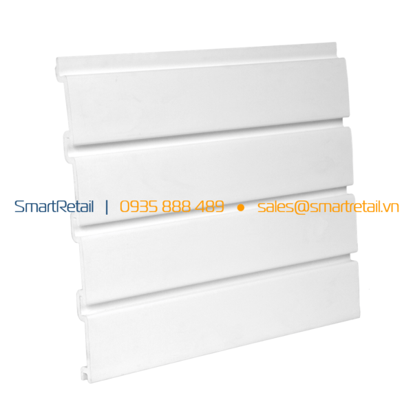 Tấm Slatwall PVC màu trắng - SmartRetail - 0935888489