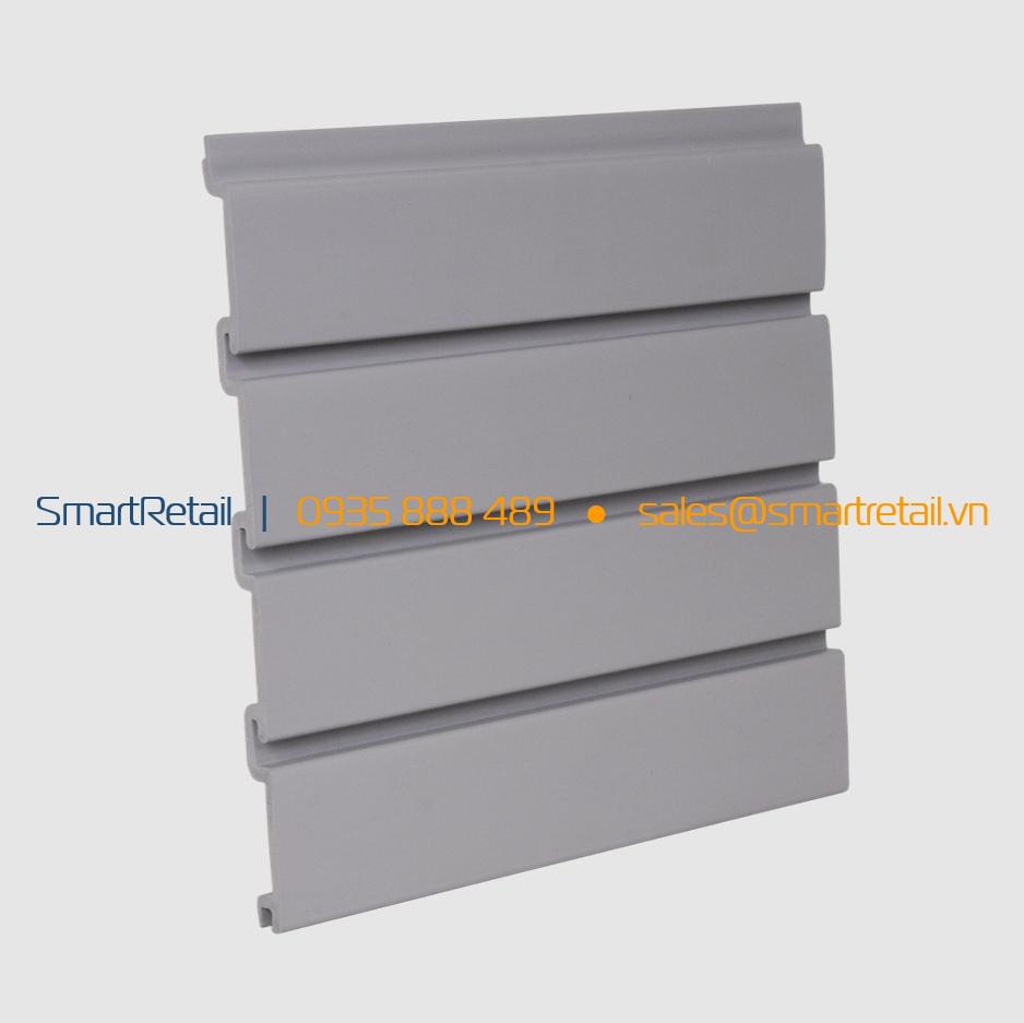 Tấm Slatwall PVC màu Xám - SmartRetail - 0935888489