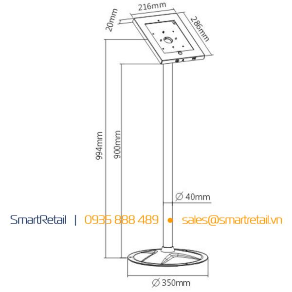Giá đỡ chân đứng SR-FSL-01A - thiết bị bảo vệ máy tính bảng chân đứng SR-FSL-01A