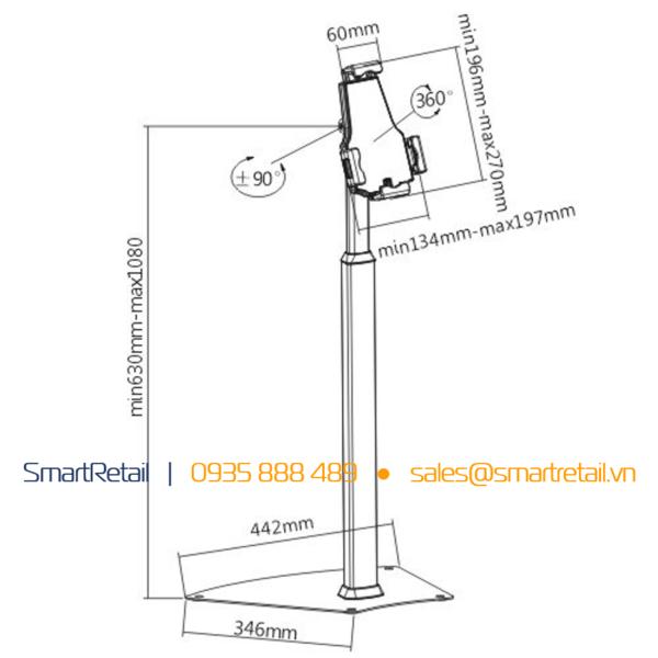 Giá đỡ tablet chân đứng - SR-FSL-03 - SmartRetail - 0935888489
