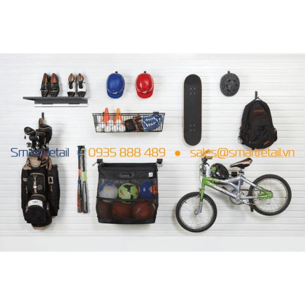 Trang trí cửa hàng với tấm gỗ slatwall MDF - SmartRetail - 0945888489