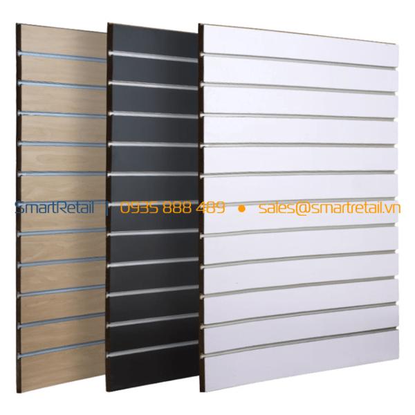 Tấm gỗ slatwall MDF - SmartRetail - 0935888489