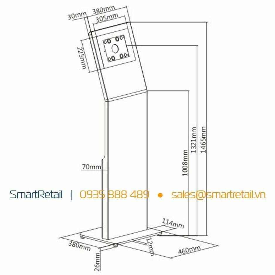 Giá đỡ chân đứng iPad Pro - SmartRetail - 0935888389