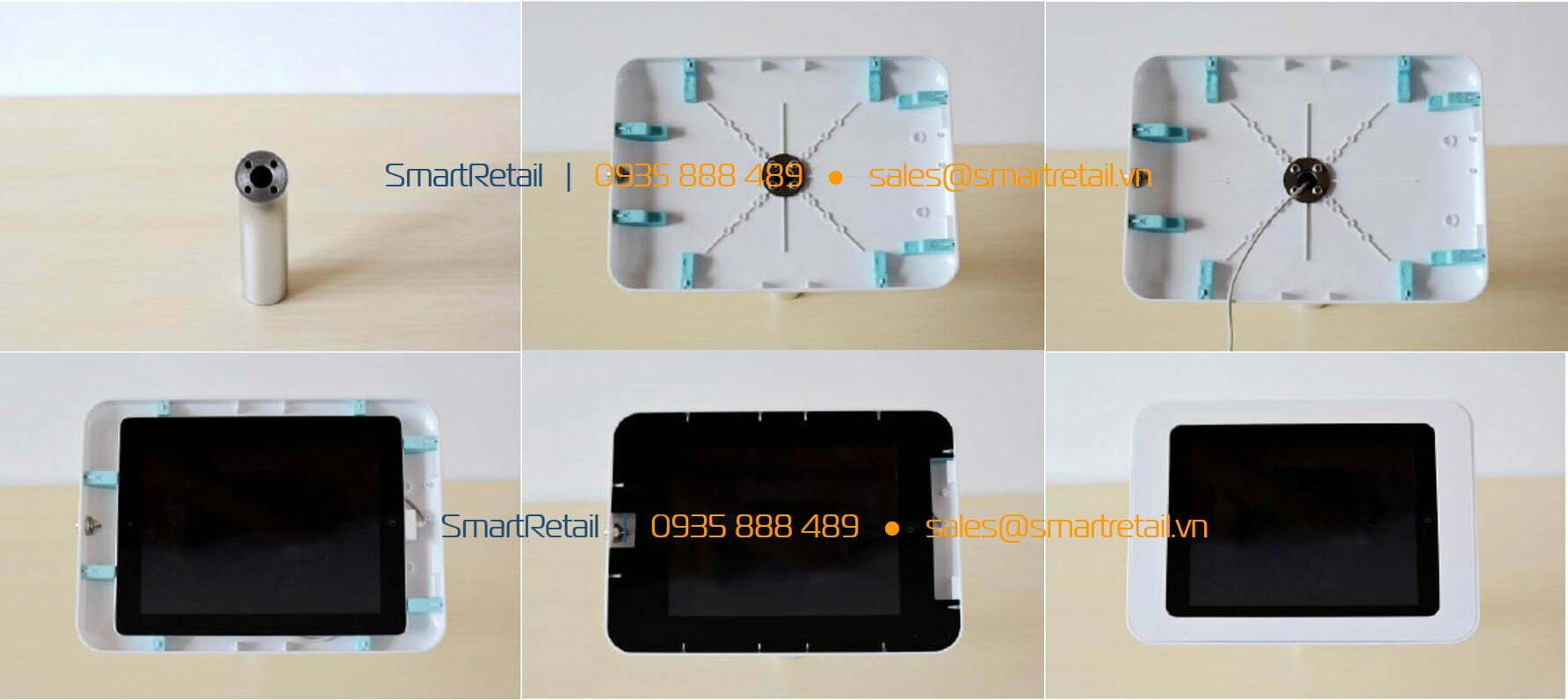 Thiết bị bảo vệ máy tính bảng để bàn cố định - SmarRetail - 0935888489