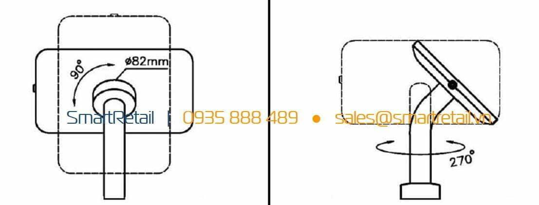 Thiết bị bảo vệ tablet để bàn cố định - SmartRetail - 0935888489
