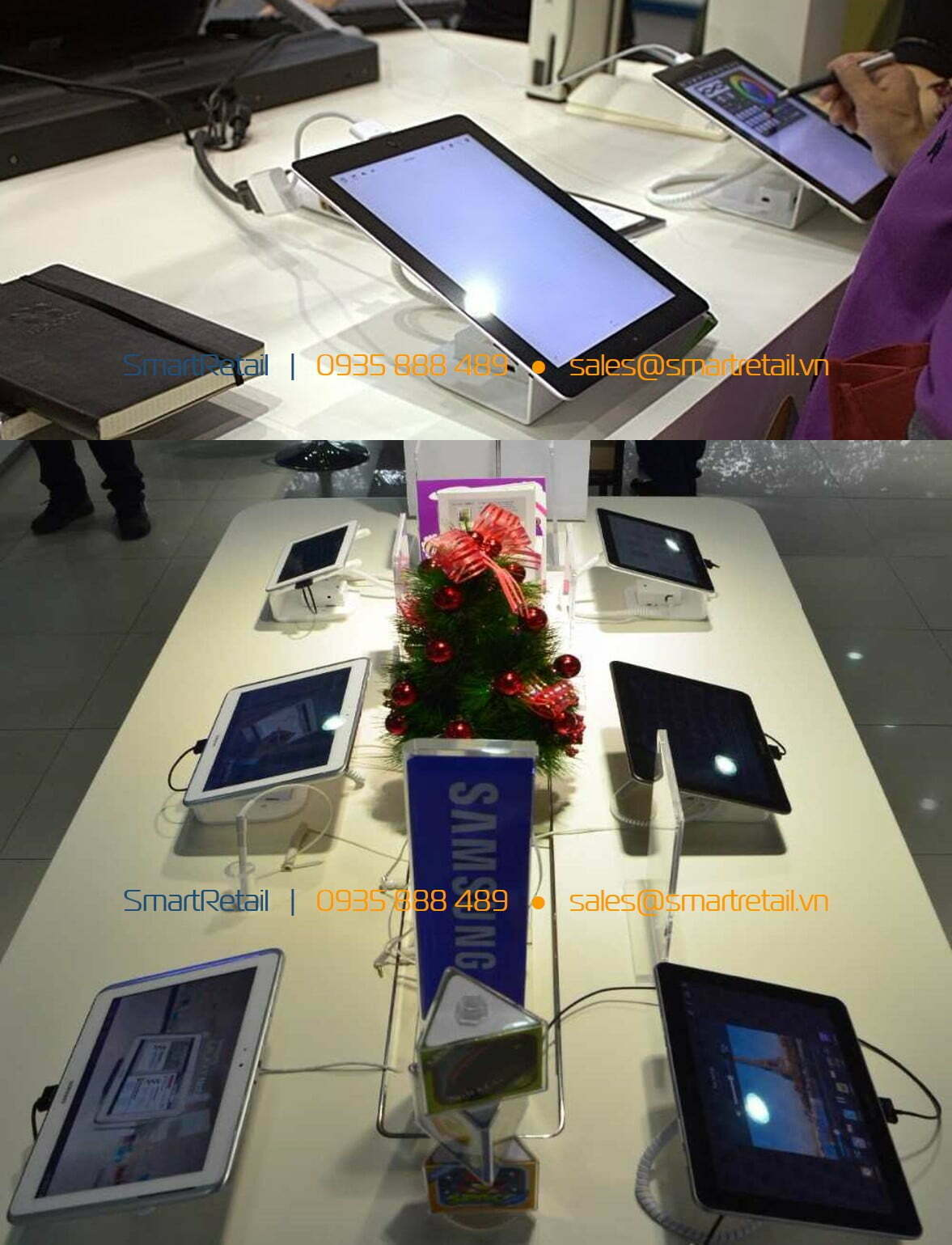 Chống trộm trưng bày tablet