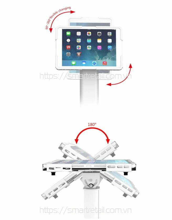 Chi tiết giá đỡ máy tính bảng chân đứng đa năng 2021