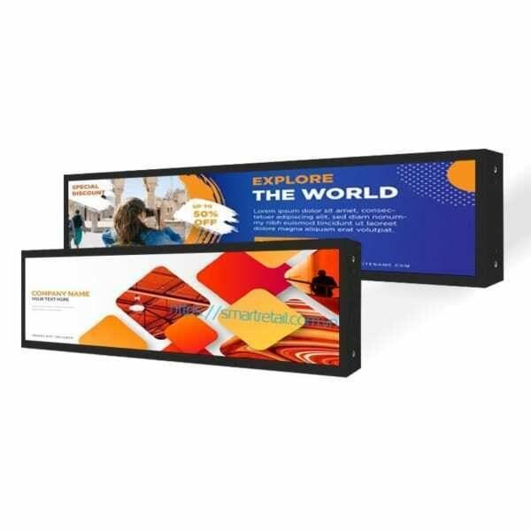 Màn hình LCD quảng cáo treo kệ trưng bày hàng hóa - SmartRetail