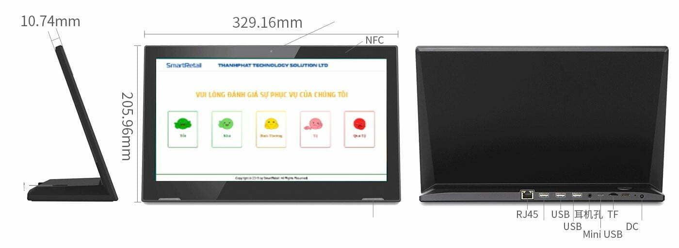 Màn hình cảm ứng để bàn LG13H - IPS LCD 13.3 inch - SmartRetail