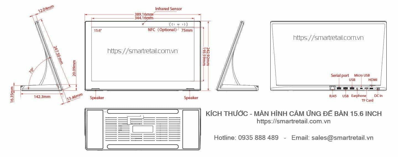 Màn hình cảm ứng để bàn LG15 - IPS LCD 15.6 inch - SmartRetail