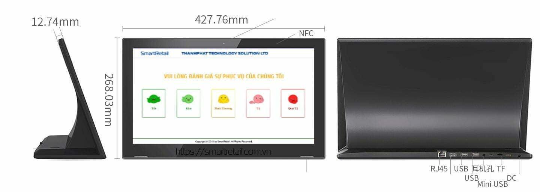 Màn hình cảm ứng để bàn LG17H - Màn hình IPS LCD 17.3 inch - SmartRetail