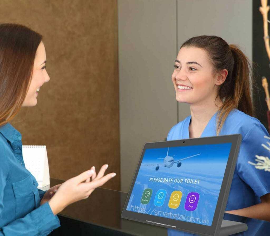 Touch Survey: Phần mềm FMS™ Touch Survey | Hệ thống thu thập ý kiến phản hồi Khách hàng | Hệ thống đo lường sự hài lòng Khách hàng - SmartRetail
