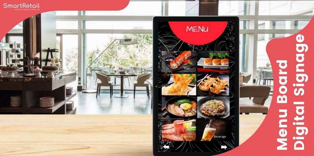 Màn hình LCD chạy quảng cáo Menu - Menu Boaard Digital Signage - SmartRetail