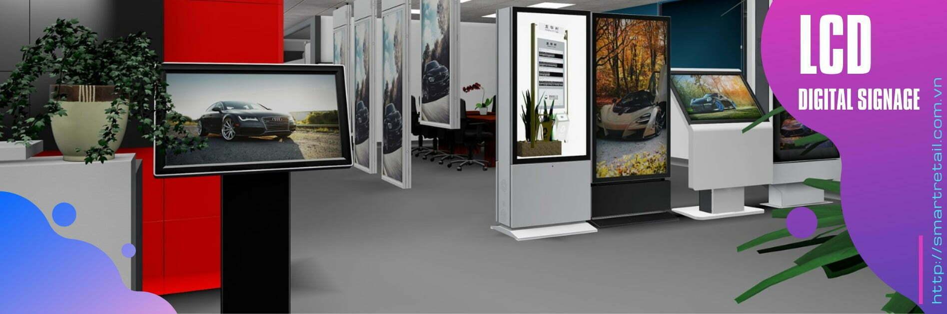 Màn hình chạy quảng cáo chân đứng - Màn hình quảng cáo chân đứng | SmartRetail