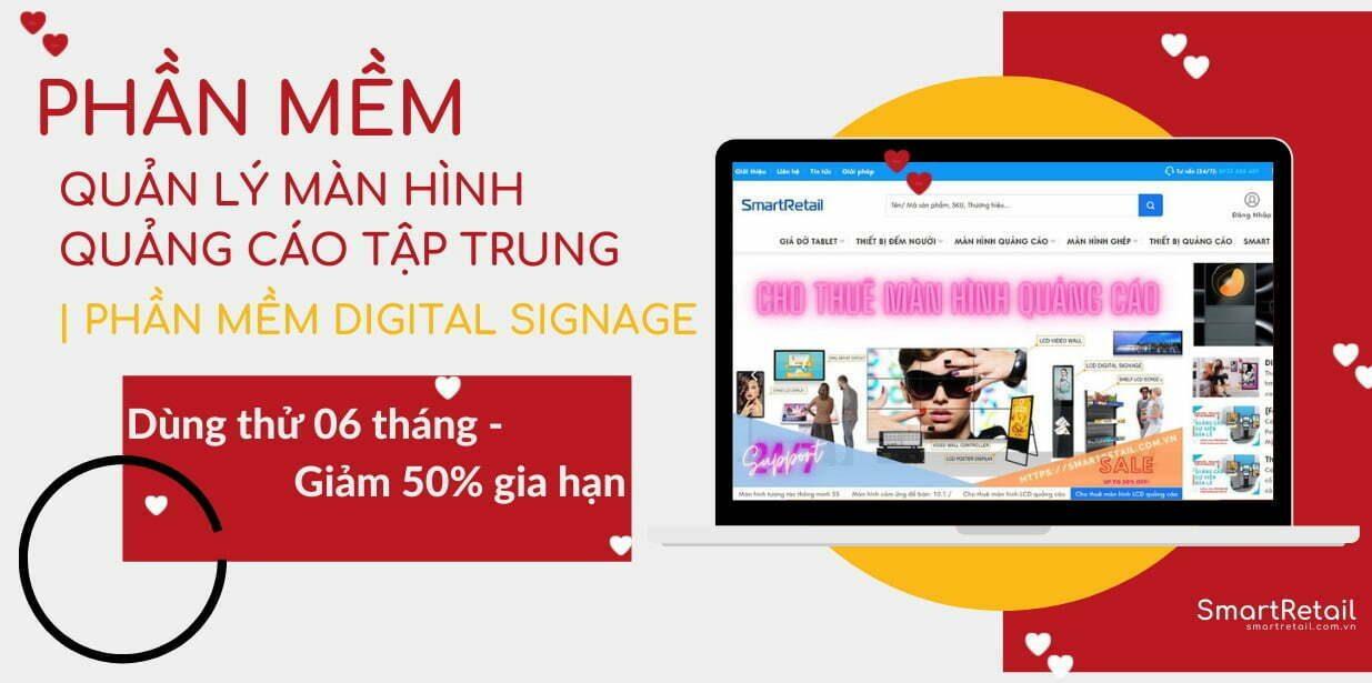 Phần mềm Digital Signage   Phần mềm quản lý màn hình chạy quảng cáo tập trung   SmartRetail