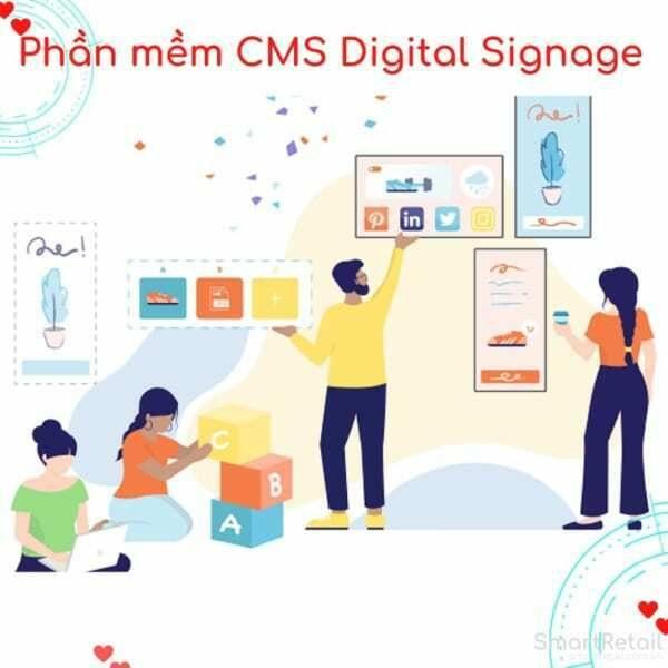 Phần mềm CMS Digital Signage   Digital Signage Software - SmartRetail